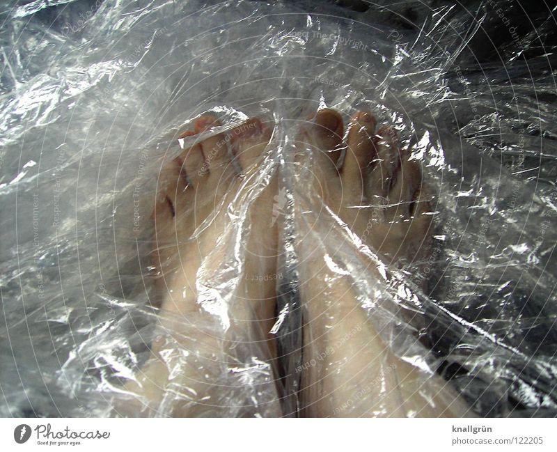 Packungsinhalt: 2 Stück Fuß durchsichtig obskur verpackt Folie Verpackungsmaterial