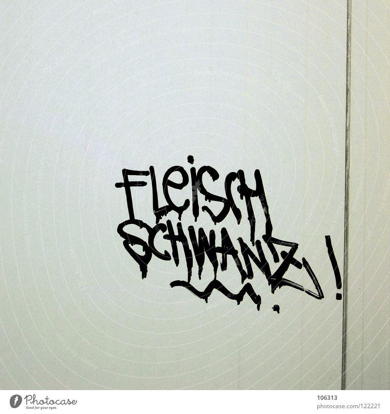 SELBSTBEKENNTNIS Mann Graffiti Kunst dreckig maskulin Schriftzeichen Macht Buchstaben Show Symbole & Metaphern Gesellschaft (Soziologie) Typographie Fett Wort