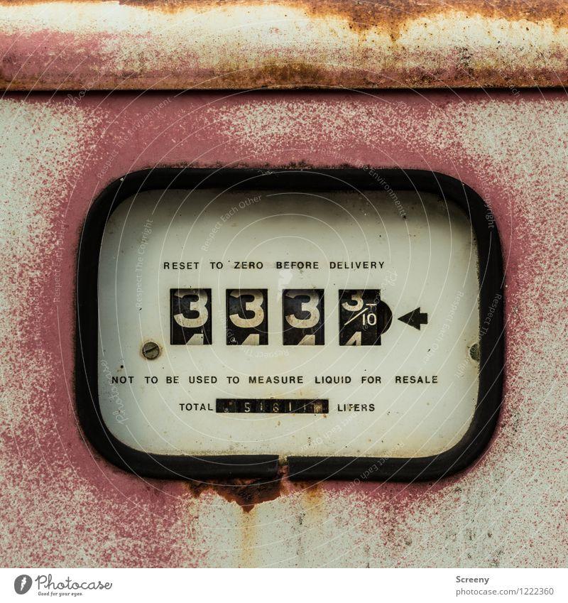 333,3/10 Maschine Messinstrument Zapfsäule Technik & Technologie Metall Zeichen Schriftzeichen Ziffern & Zahlen Schilder & Markierungen alt retro Preisschild