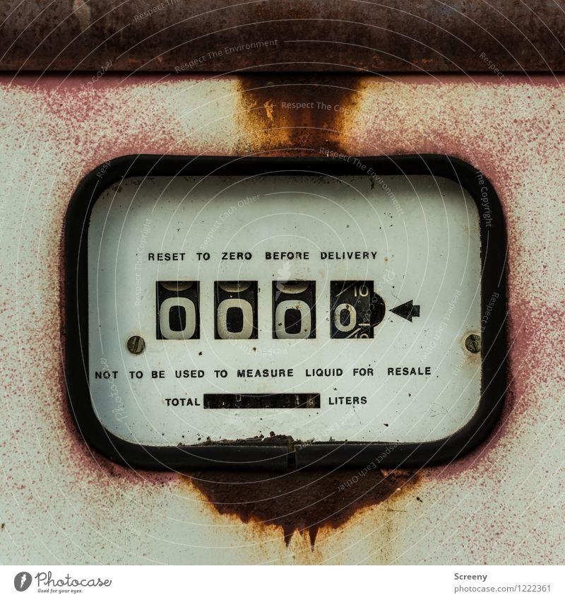 000,0 Maschine Messinstrument Zapfsäule Technik & Technologie Metall Zeichen Schriftzeichen Ziffern & Zahlen Schilder & Markierungen alt retro Preisschild