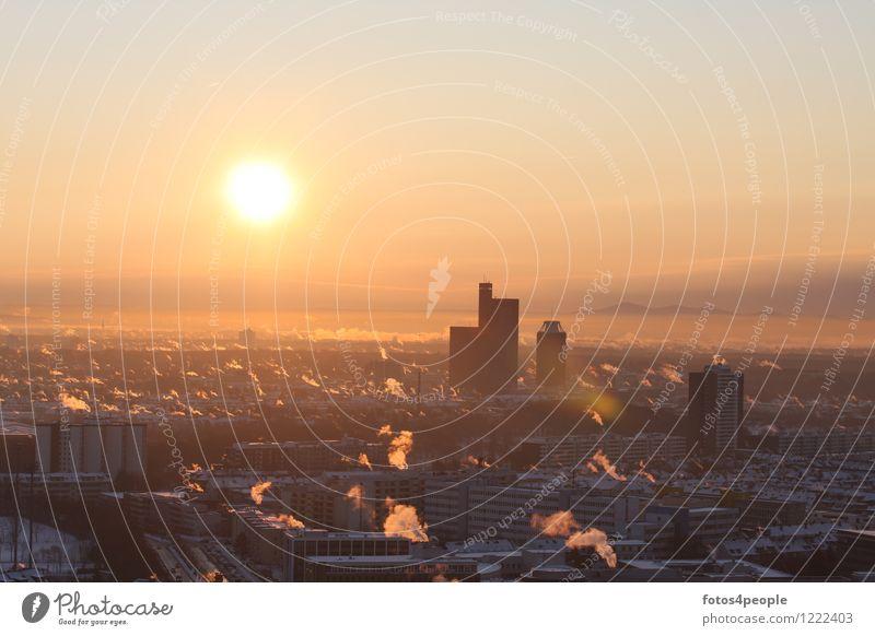 Sonnenaufgang Köln-Süd Ferien & Urlaub & Reisen Städtereise Winter Energiewirtschaft Fortschritt Zukunft Erneuerbare Energie Sonnenenergie Energiekrise