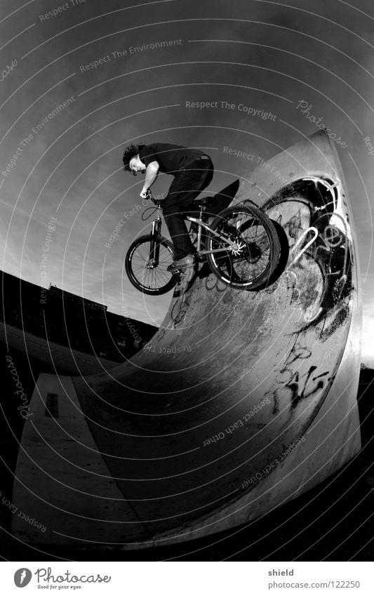 wandritt Sport Spielen Fahrrad Halfpipe Mountainbike Sportpark Wallride