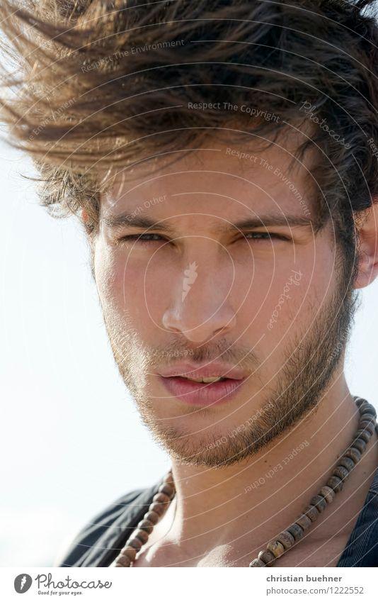 strong Mensch Jugendliche schön Erotik Junger Mann 18-30 Jahre kalt Erwachsene Leben natürlich Haare & Frisuren Freiheit wild Kraft authentisch Wind
