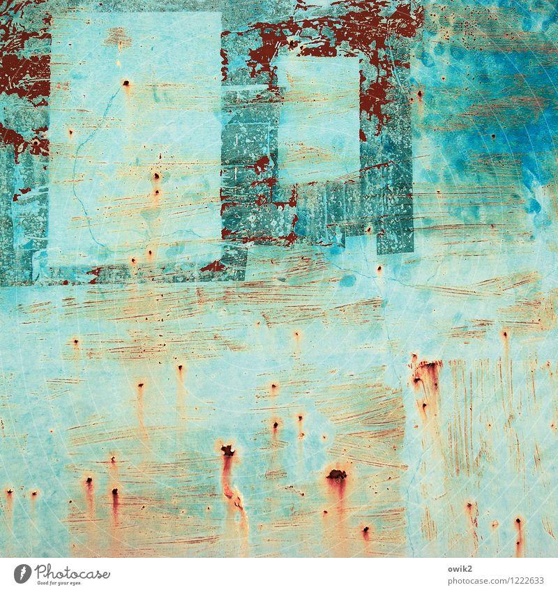 Unknown Pleasures Kunst Kunstwerk Metall Rost alt trashig verrückt wild Vergänglichkeit türkis orange Blech Farbfoto mehrfarbig Außenaufnahme Nahaufnahme