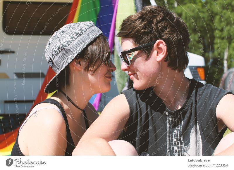 Only you are on my rainbow Ferien & Urlaub & Reisen Erholung Liebe Freiheit Zusammensein träumen sitzen frei genießen Lächeln Kommunizieren beobachten Romantik