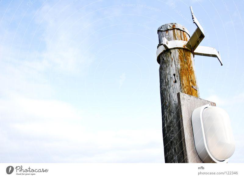 pathfinder Himmel Meer blau Strand Küste Strommast Pfosten Republik Irland