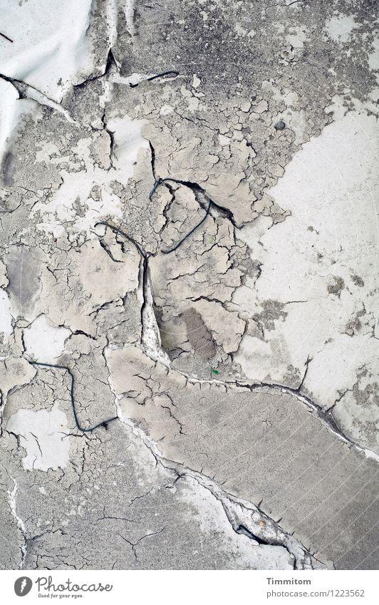 Crinkle. Gefühle grau Linie ästhetisch Beton einfach Brücke kaputt Niveau Draht Beschichtung