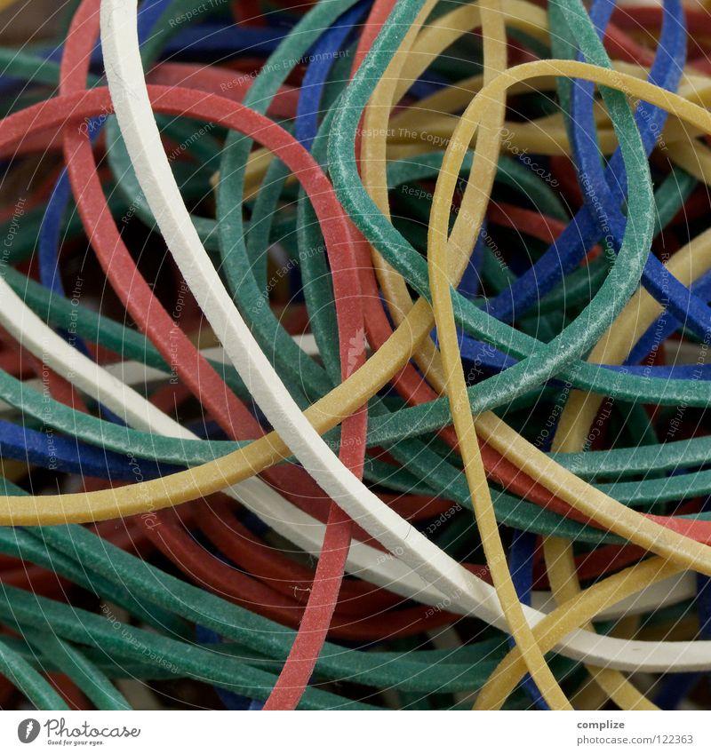 Gummi Farbe mehrere Tisch viele Schnur Zusammenhalt Verschiedenheit beweglich Schalen & Schüsseln Schachtel gleich binden Schreibwaren praktisch Gummiband