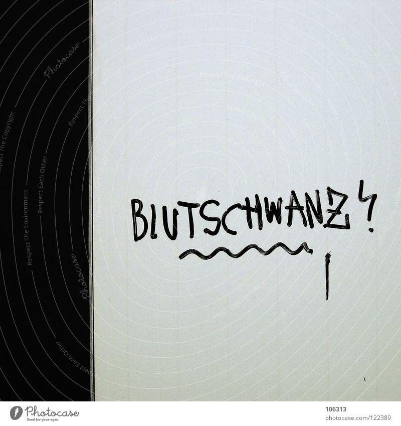 BLEEDED Lust Phantasie dreckig hässlich Ekel Empörung Schwanz Filzstift Bombe Schmiererei Straßenkunst Typographie Wort Ausrufezeichen Mann maskulin Penis