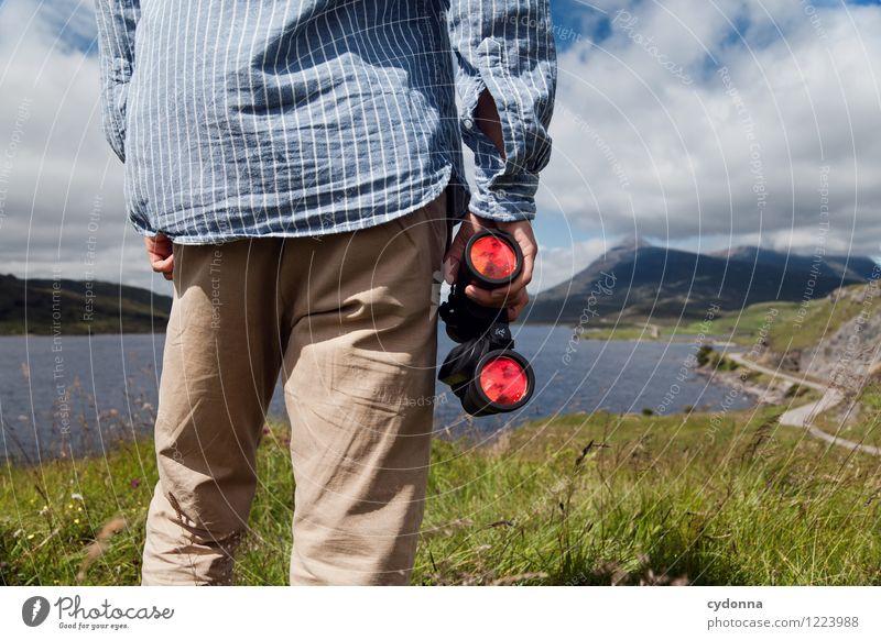 Loch in Sicht Leben Ferien & Urlaub & Reisen Ausflug Abenteuer Ferne Freiheit wandern Mensch Junger Mann Jugendliche 18-30 Jahre Erwachsene Natur Landschaft
