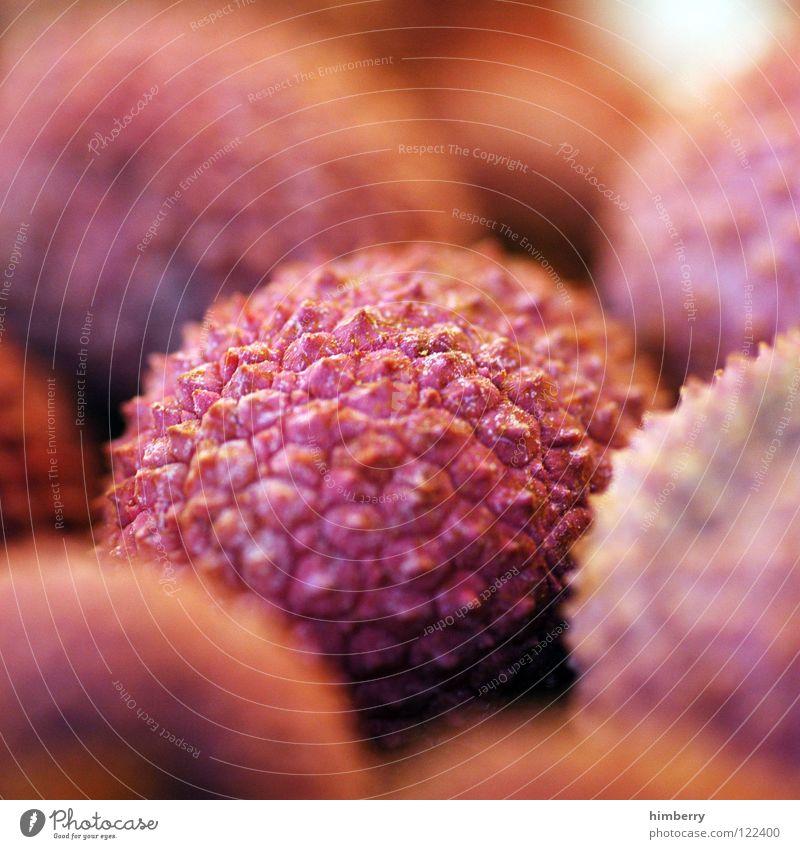 litschicase Gesundheit rosa Frucht Markt exotisch Vitamin Schalen & Schüsseln Glätte stachelig Fruchtfleisch Lychee