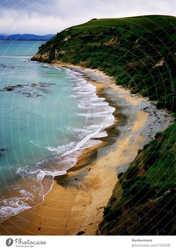 Küstenrost Meer rot Strand Farbe Sand Küste Erde Rost Neuseeland Südinsel