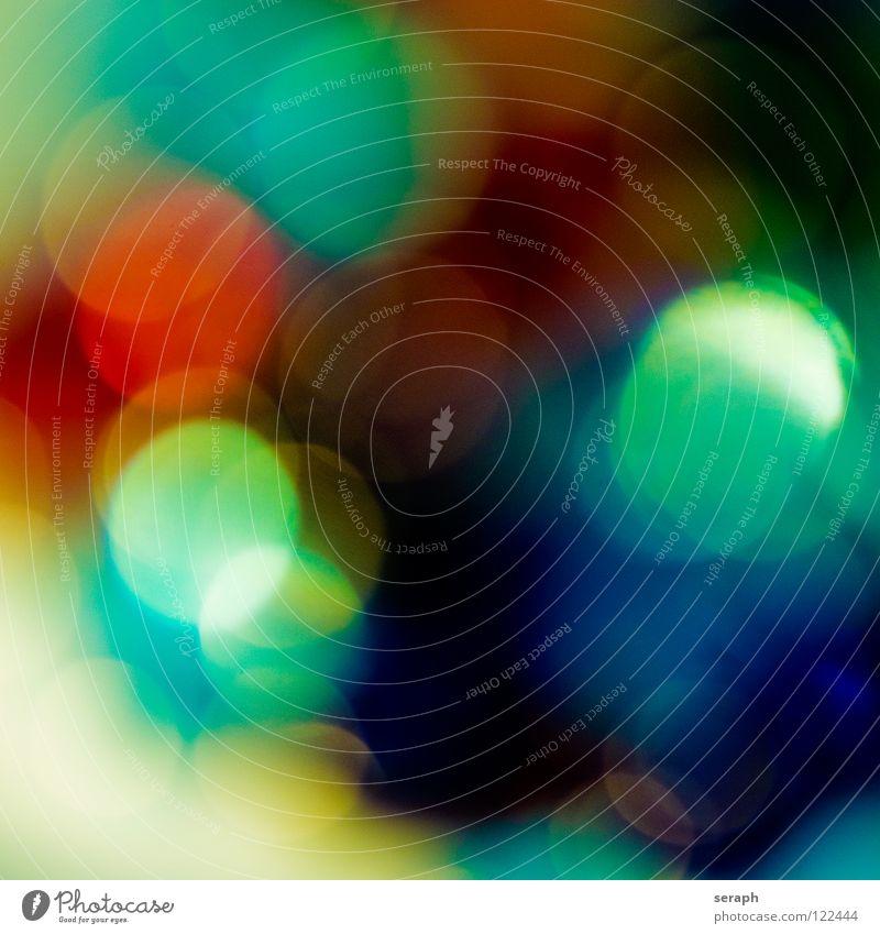 Spots Farbe mehrfarbig Kreis Schwache Tiefenschärfe Unschärfe Fleck gefleckt erleuchten Beleuchtung glänzend rund Punkt Lichtpunkt weich Lampe