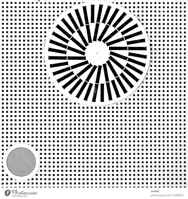 Kalte Dusche weiß schwarz grau oben Design verrückt Technik & Technologie Kreis einfach rund viele bizarr minimalistisch Einkaufszentrum Zimmerdecke Polen