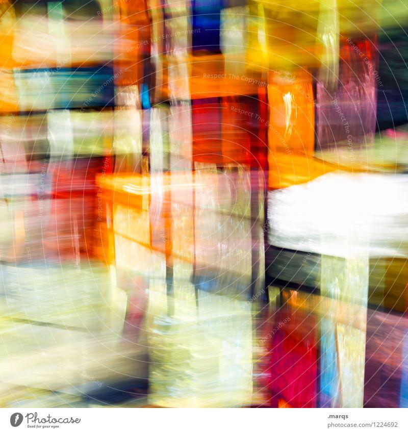Veil Lifestyle elegant Stil Design Fenster Glas Bewegung außergewöhnlich Farbe Irritation Doppelbelichtung Farbfoto mehrfarbig Innenaufnahme abstrakt Muster