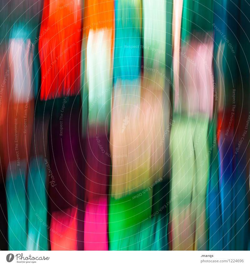 Streifen elegant Stil Design Glas Coolness verrückt mehrfarbig Farbe Surrealismus Irritation Hintergrundbild Langzeitbelichtung Farbfoto Innenaufnahme