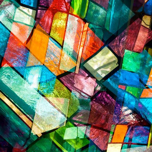 Undurchsichtig Stil Design Kunst Fenster Glas Linie außergewöhnlich Coolness trendy einzigartig modern viele verrückt mehrfarbig Farbe Ordnung Surrealismus