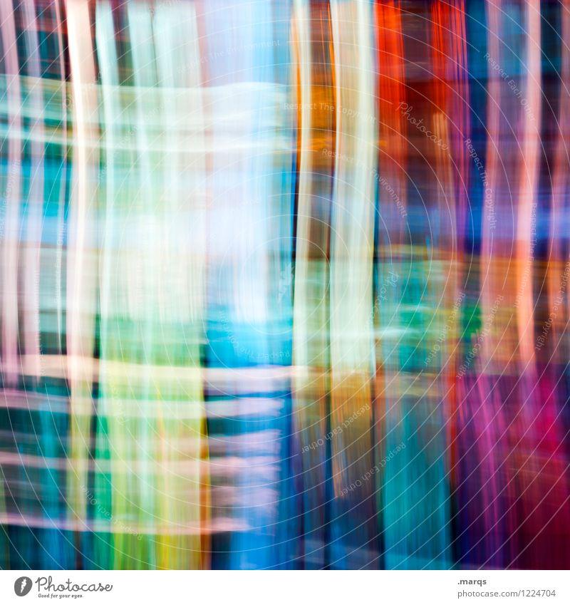 Gestreift Stil Design Glas Linie Streifen außergewöhnlich einzigartig modern verrückt mehrfarbig Bewegung Farbe Doppelbelichtung Hintergrundbild Farbfoto