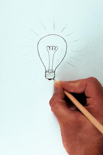 Ich hab's !!! Mensch Jugendliche Hand Erwachsene Leben Denken Schule Business maskulin Erfolg Kreativität lernen Idee malen Bildung Erwachsenenbildung