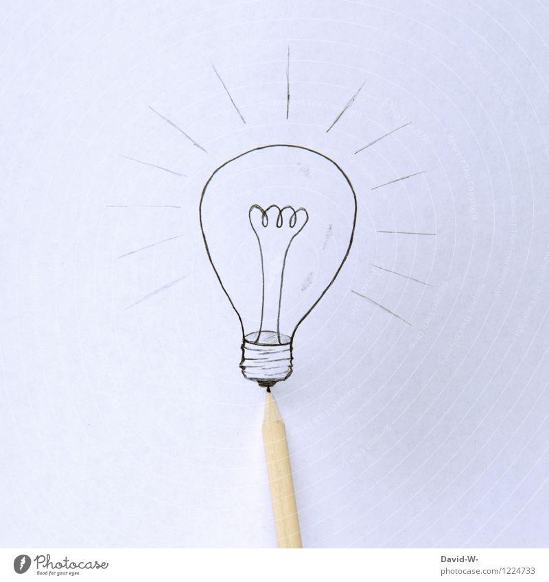 mir geht ein Licht auf Mensch Leben Denken Schule Business Design Erfolg Kreativität lernen Studium Idee Bildung verfallen Erwachsenenbildung zeichnen