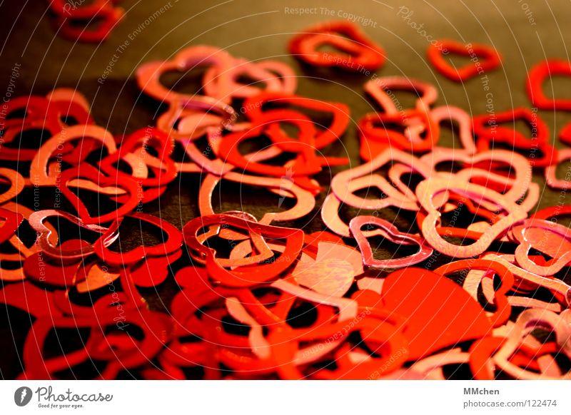 Nee, wie herzig... rot schwarz Liebe Gefühle rosa Herz glänzend Wunsch Überraschung Rest Valentinstag Konfetti Souvenir Muttertag verteilt