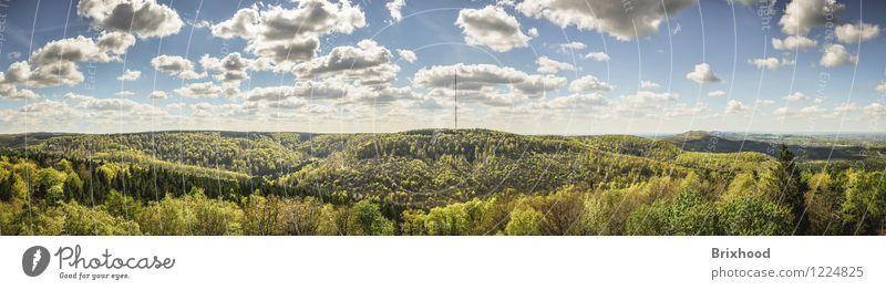 Panorama - Teutoburger Wald - Ostwestfalen Natur Landschaft Horizont Frühling Schönes Wetter Baum Berge u. Gebirge Schlucht Deutschland Nordrhein-Westfalen