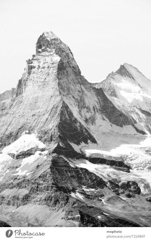 Gipfel der Gefühle Natur Ferien & Urlaub & Reisen Landschaft dunkel Berge u. Gebirge Schnee Freizeit & Hobby Eis Tourismus Erfolg ästhetisch Abenteuer Frost