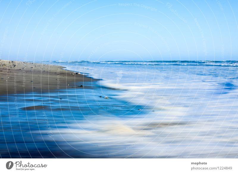 Wischi-waschi Himmel Natur Ferien & Urlaub & Reisen blau Wasser weiß Meer Landschaft Ferne Strand Umwelt Bewegung Küste grau braun Sand
