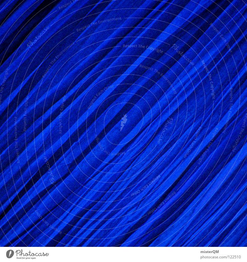 Knautschware. blau dunkel Lampe hell Kunst dreckig Hintergrundbild Geschwindigkeit leer Ecke kaputt Stoff Dinge Regenschirm Konzentration Teile u. Stücke