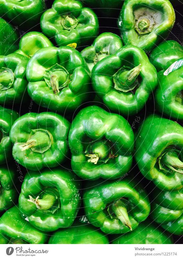 Grüne Paprika Lebensmittel Milcherzeugnisse Gemüse Ernährung Essen Bioprodukte Vegetarische Ernährung Diät Wohlgefühl Landwirtschaft Forstwirtschaft Frühling