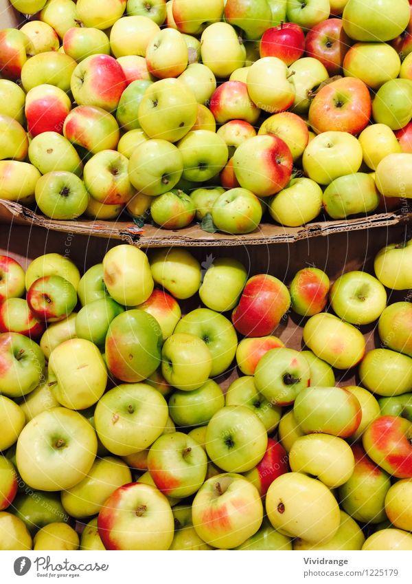Äpfel Natur grün Sommer Baum rot Gesunde Ernährung gelb Frühling Herbst natürlich Gesundheit Lifestyle Lebensmittel Sand Frucht süß