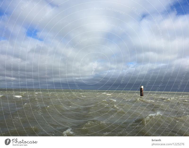Sylt (List) Der Frühjahr beginnt am Meer Wasser Himmel Frühling Sommer Wetter Wind Sturm Wellen Küste Seeufer Nordsee Blick Schwimmen & Baden träumen