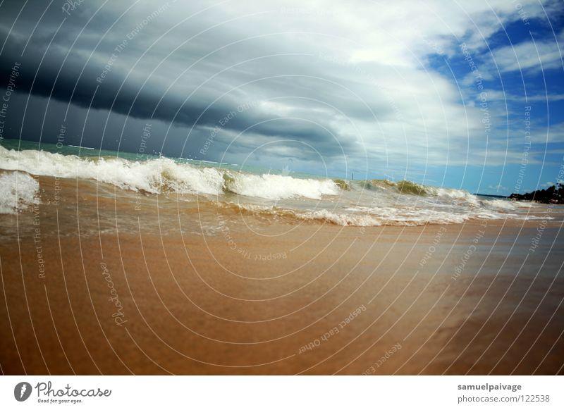 Ocean Himmel Meer Strand Wolken Wellen