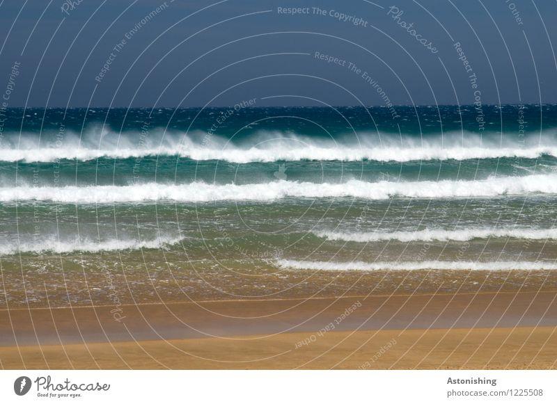 am Meer Himmel Natur blau Sommer Wasser weiß Strand dunkel Umwelt Küste braun Sand Horizont Luft Wetter