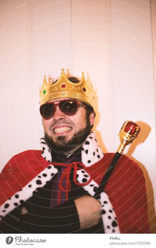 Poser verkleidet als König Stil Freude Entertainment Party Feste & Feiern Karneval Mensch maskulin Junger Mann Jugendliche Erwachsene 1 18-30 Jahre Accessoire