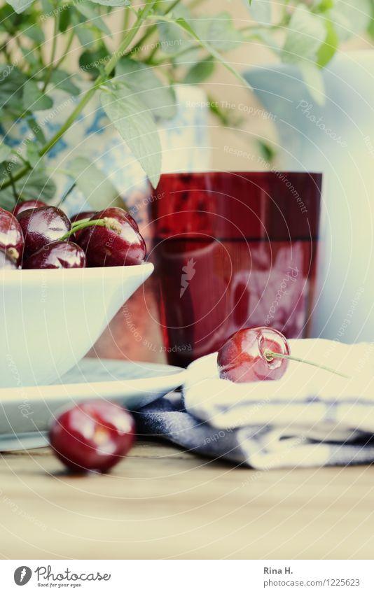 KirschSommer Gesundheit Frucht Glas Kräuter & Gewürze lecker Bioprodukte Schalen & Schüsseln Teller Holztisch Vegetarische Ernährung Kirsche Handtuch Serviette