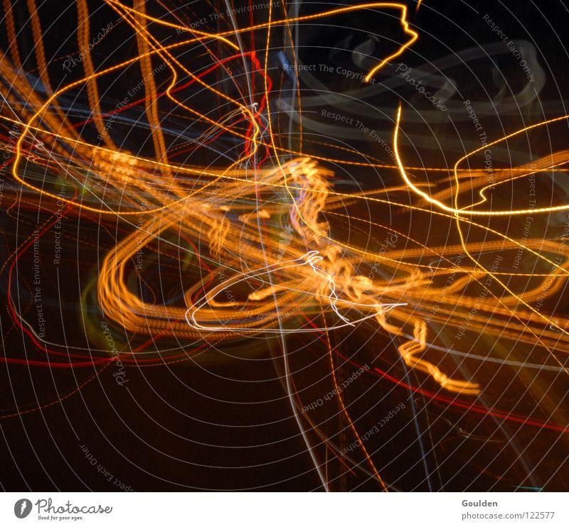 Gom Freude Spielen Lampe Tanzen Hintergrundbild Design modern Energiewirtschaft Schriftzeichen Elektrizität Zeichen Autobahn Blitze obskur chaotisch Idee