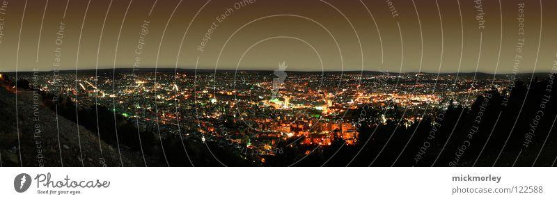 damaskus night ruhig Ferne Lampe dunkel Berge u. Gebirge groß Horizont Frieden lang lügen Panorama (Bildformat) Naher und Mittlerer Osten Syrien 1001 Damaskus