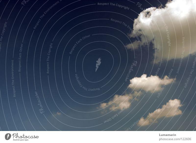 Reise schön Himmel blau Sommer Ferien & Urlaub & Reisen ruhig Wolken Ferne Freiheit Glück träumen Luft Zufriedenheit hell Wetter fliegen