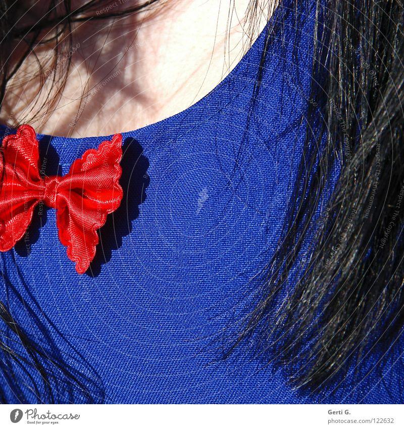 skin Frau schön weiß blau rot schwarz Farbe Haare & Frisuren Haut Macht Kleid Schönes Wetter langhaarig Schleife Karnevalskostüm Bekleidung