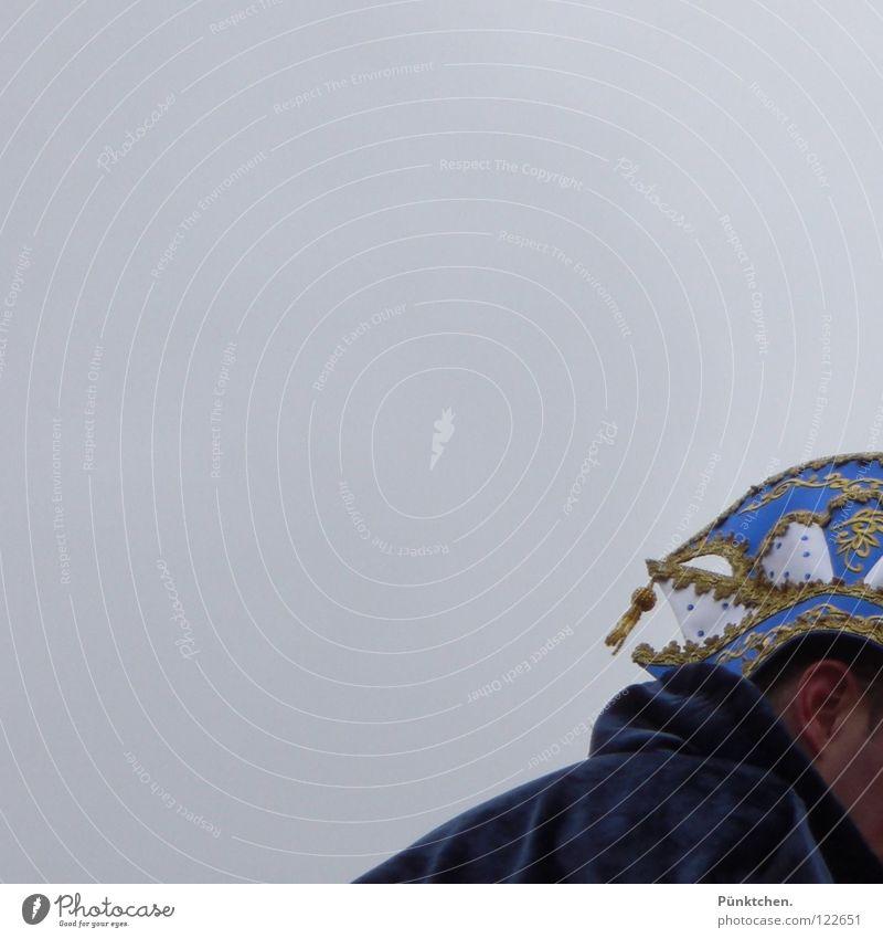 Seit Rosenmontag fehlt mir ne Sonnenbrille! Himmel Mann blau Wolken Feste & Feiern Karneval Mütze schlechtes Wetter Samt Borte Narren Traumprinz Baseballmütze