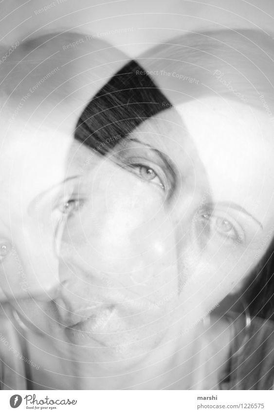launisch Mensch Frau Jugendliche Junge Frau Freude Erwachsene Traurigkeit Gefühle feminin Kopf Stimmung 2 Krankheit Doppelbelichtung Alkohol Künstler