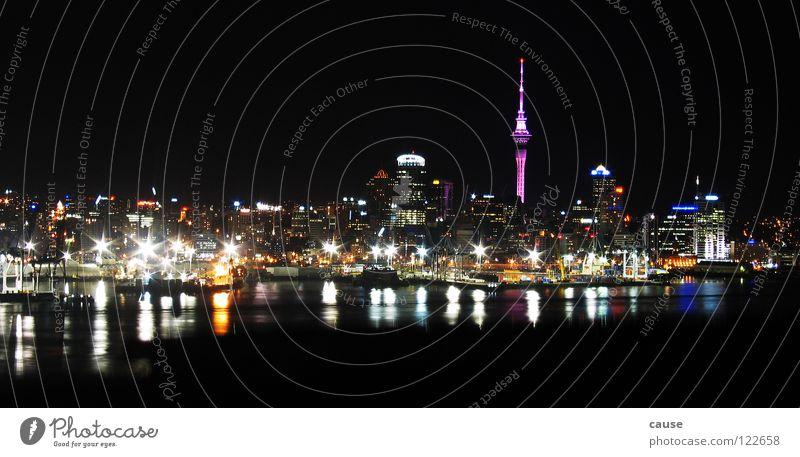 The Skyline Meer Haus Licht Australien dunkel Aussicht Industrie Wasser LA Berliner Fernsehturm