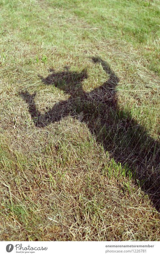 Archetyp Mensch dunkel Wiese Kunst verrückt ästhetisch gefährlich bedrohlich Gemälde gruselig Kunstwerk Kostüm hinten Monster Intuition Schattenspiel