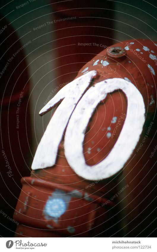 X 10 Ziffern & Zahlen analog Zuleitung Röhren Wasserrohr Rohrleitung kennzeichnen Löschwasser Hydrant