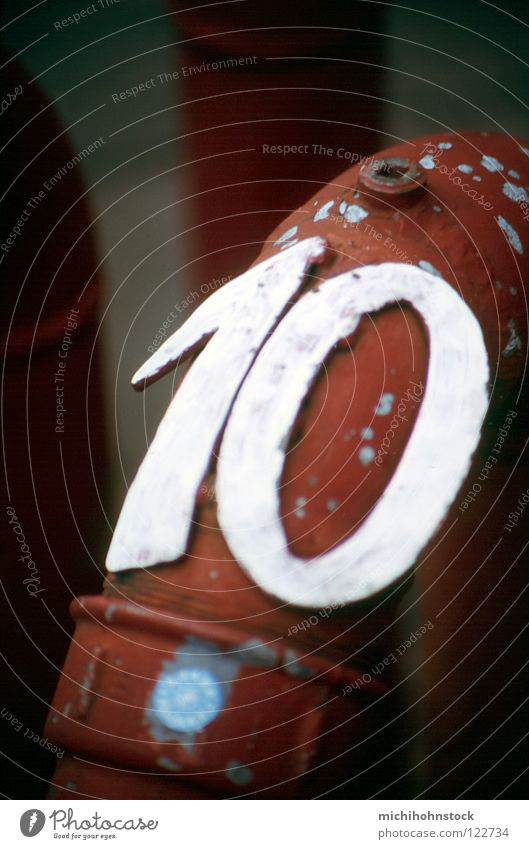 X Ziffern & Zahlen analog Röhren 10 Rohrleitung Wasserrohr kennzeichnen Hydrant Zuleitung Löschwasser
