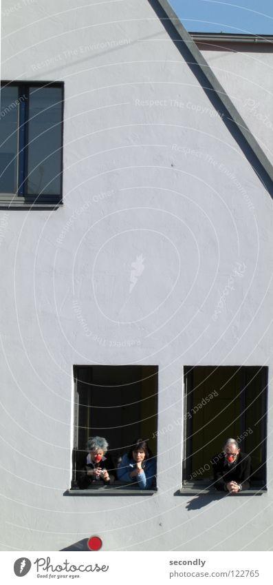 red dot Mensch Fenster Wand Nase Punkt Karneval Dienstleistungsgewerbe