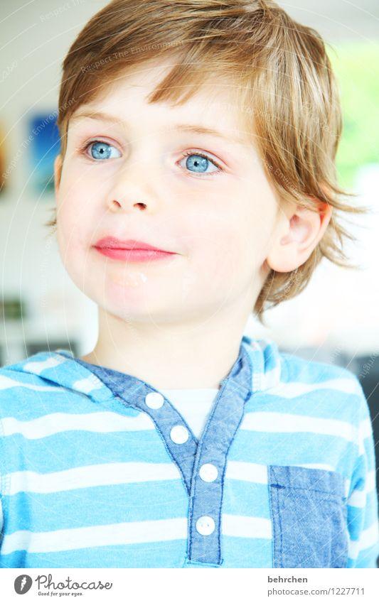 (m)ein traum Kind blau schön Gesicht Auge Junge Glück Familie & Verwandtschaft Haare & Frisuren Kopf träumen Zufriedenheit nachdenklich blond Kindheit Haut