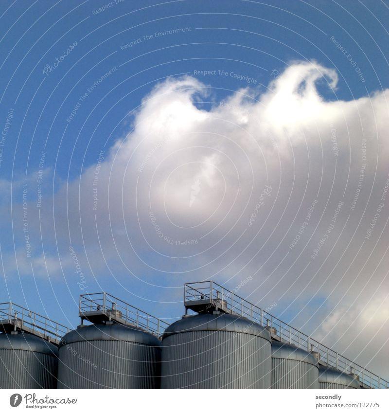 welle Himmel blau Wolken Industrie Kreis Wasserdampf Kräusel