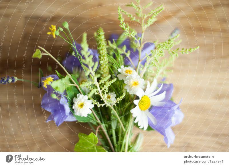Gartenblumenstrauß auf Holz Blumenstengel Blumenstrauß essbar Vegetarische Ernährung Lifestyle Stil Freizeit & Hobby Muttertag Beruf Gärtner Gärtnerei